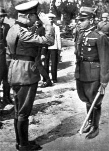 mjr Sucharski oraz gen. Eberhardt