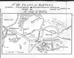 Plan oblężenia Gdańska przez wojska francuskie