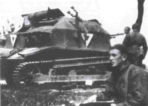 Kapral pchor. Orlik w trakcie nauki w Centrum Wyszkolenia Broni Pancernych w Modlinie