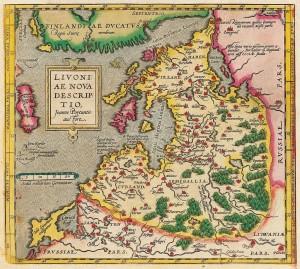 Mapa Inflant w 1573 roku