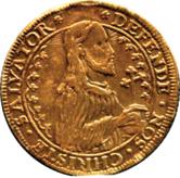 Talar wybity przez miasto Gdańsk w czasie oblężenia w 1577, na awersie zamiast postaci króla Stefana Batorego, postać Jezusa Chrystusa