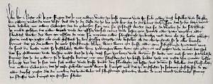 Jedno z zachowanych źródeł dotyczących bitwy odkryte przez Szwedzkiego historyka Svena Ekdahla. Anonimowy list datowany między rokiem 1411 a 1413