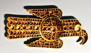 Autentyczny gocki orzeł. Fibula z ok. 500 roku w zbiorach muzeum w Norymberdze