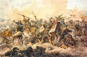 Obrona polskiego sztandaru pod Chocimiem, Juliusz Kossak, 1892