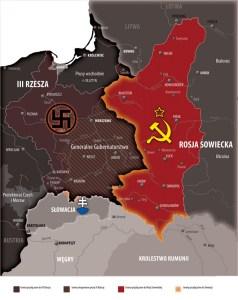 Mapa podziału Polski
