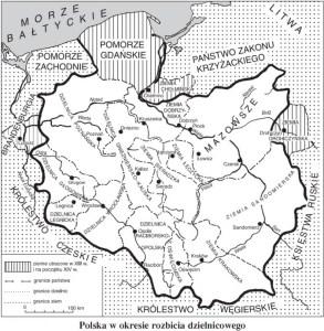 Polska w okresie rozbicia dzielnicowego.