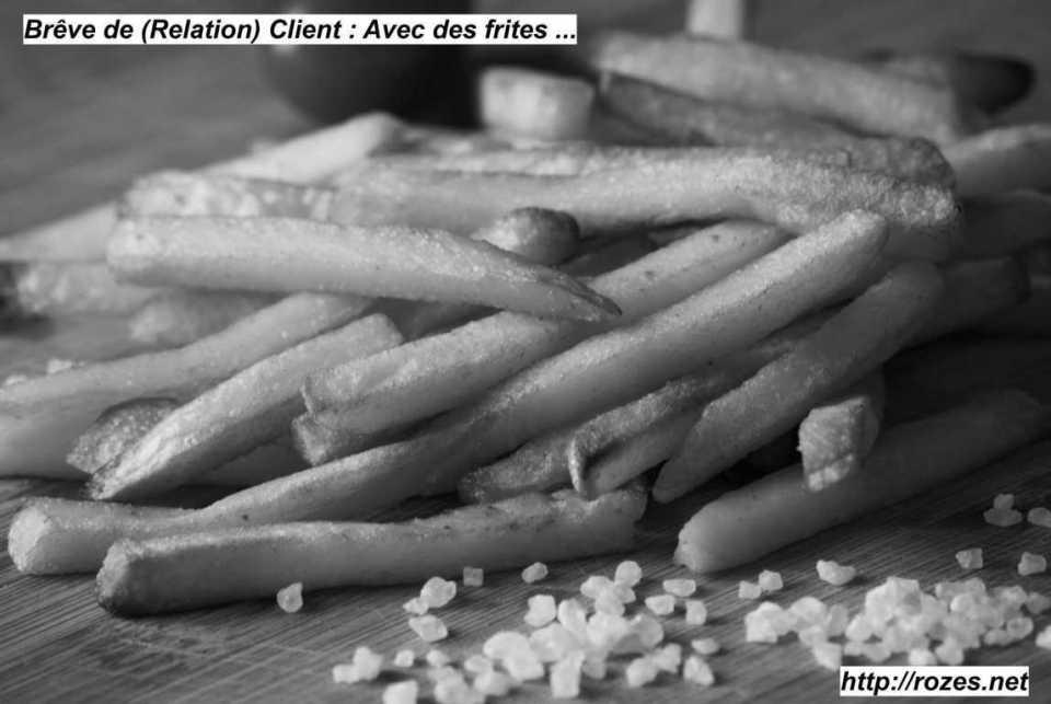Brève de (Relation) Client Avec des frites