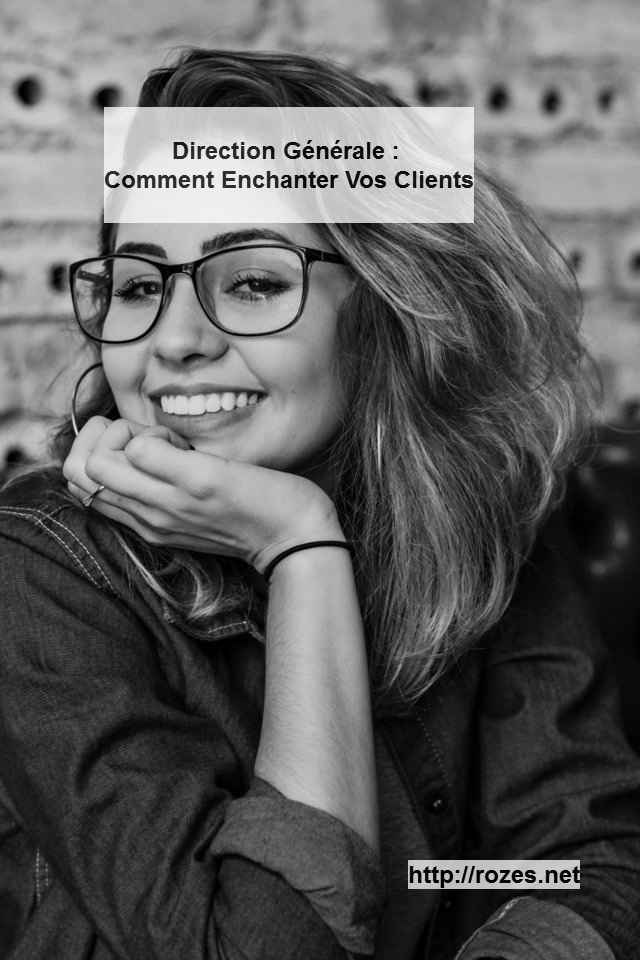Direction Generale Comment Enchanter Vos Clients