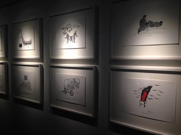 Violette Lecoq's drawings of Ravensbrück concentration camp.