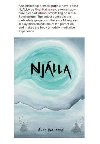 Warren Ellis' review of Njálla