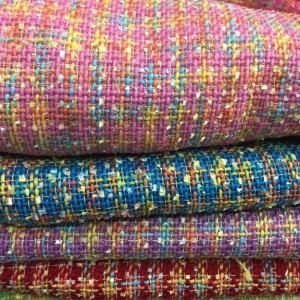 Haute Couture Fabric Wool Tweed Fabric Red /Designer Tweed Fabric Alta Moda/Fashion week fabric/5 Colours Available Check Listing please