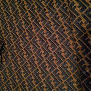 Fendi Fabric Brocade/Fendi Brown and Black Jacquard Fabric/Velvet Letters F logo Fabric