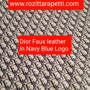 DIOR Leather Imitation Blue/Dior faux leather/D logo sneakers fabric/Customs Made Faux Leather D