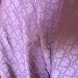 DIOR SILK NEW COLLECTION/Limited Edition Dior Fabric in 18colours/LILAC PINK COLOUR
