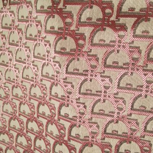 Exclusive Dior Pink Jacquard EXCLUSIVE silky Wicker Logo on Light Grey Base/Fashion week fabric for clothing and accessories #9