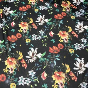 Beautiful Light Summer Chiffon Floral Design/High quality Chiffon Fabric