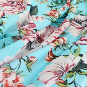 Italian Designer Cotton Poplin Flowers print fabric/New collection Italian cotton