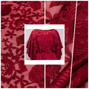 3D ITALIAN SILK EMBROIDERY LIMITED EDITION/DESIGNER LACE EMBROIDERY IN VARIOUS COLOURS #1