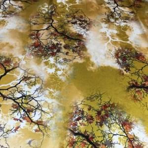 Emanuel Ungaro Heavy Silk Fabric/New Collection 2021 Fashion week Ungaro Silk/Digital painting Italian silk fabric