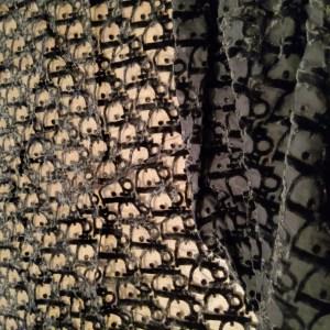 Dior Oblique Mesh Devore Fabric/3D Dior Devore Lace Logo stretch fabric/Fashion week Dior Oblique fabric