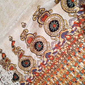 Valentino Fabric Fashion Week Reticulated Borders Byzantine Ornamental Valentino Fabric Lace/Only 1 piece of 210/120cm