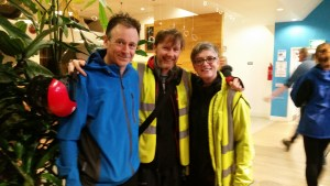 Brighton activists, Duncan Blinkhorn, Rebecca Webb and Andy Newsham