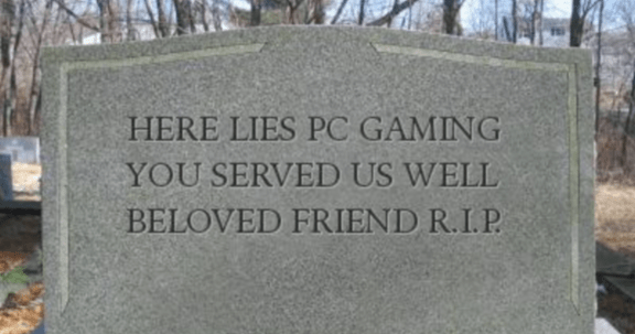 PC Gaming tombstone