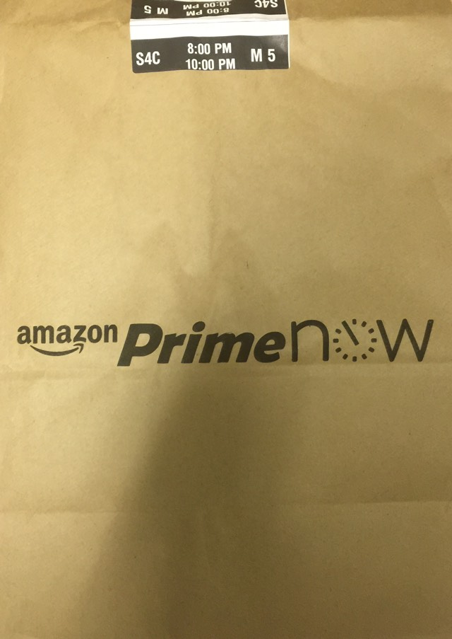 Amazon Prime Now bag