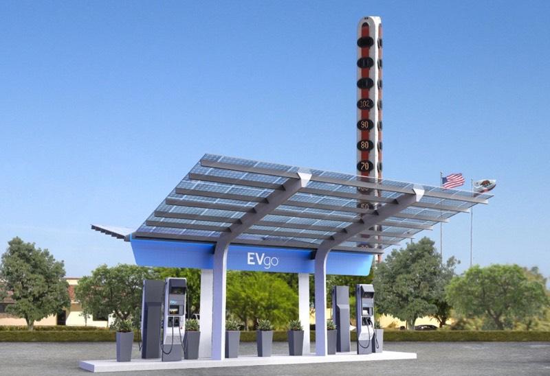 EVgo Breaks Ground on 350kW Charging Station in Baker, CA
