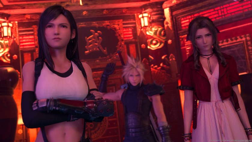 Tifa, Cloud, and Aerith