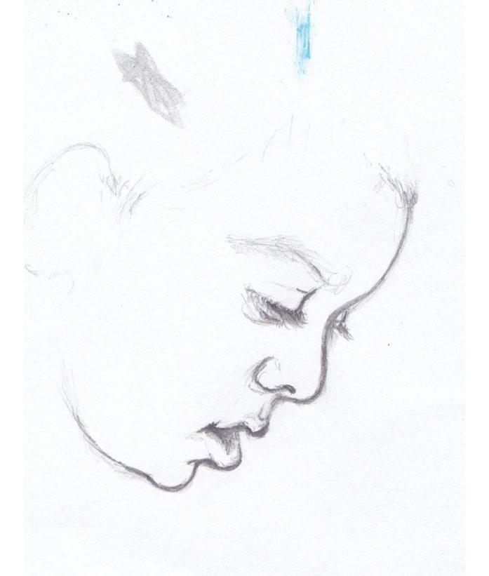Damiano Profile Sketch, Pencil on Paper, 2014