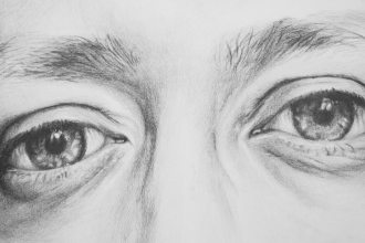 Eyes No. 1, pencil drawing on paper