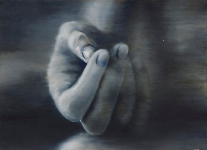 Hand Oil Painting in the Style of Gerhard Richter