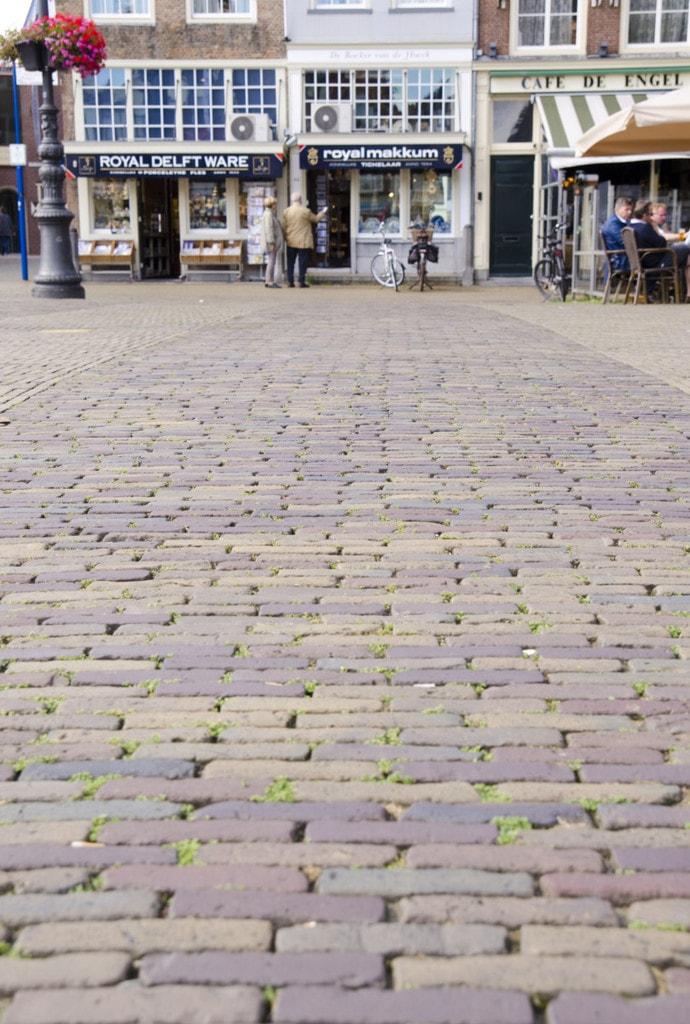 delft brick square street