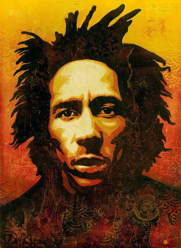 BOB MARLEY CANVAS by Shepard Fairey