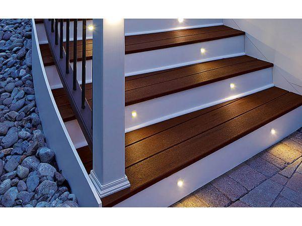 trex deck lighting led stufenleuchten cree vertikal riser schwarz charcoal