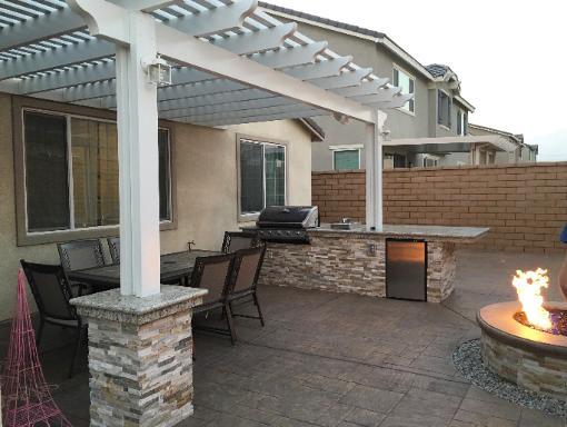 patio covers and landscape concrete