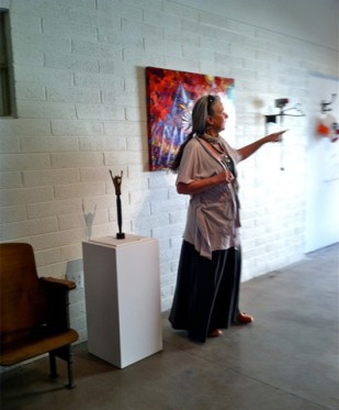 Kathleen Engstrom talks about her art.