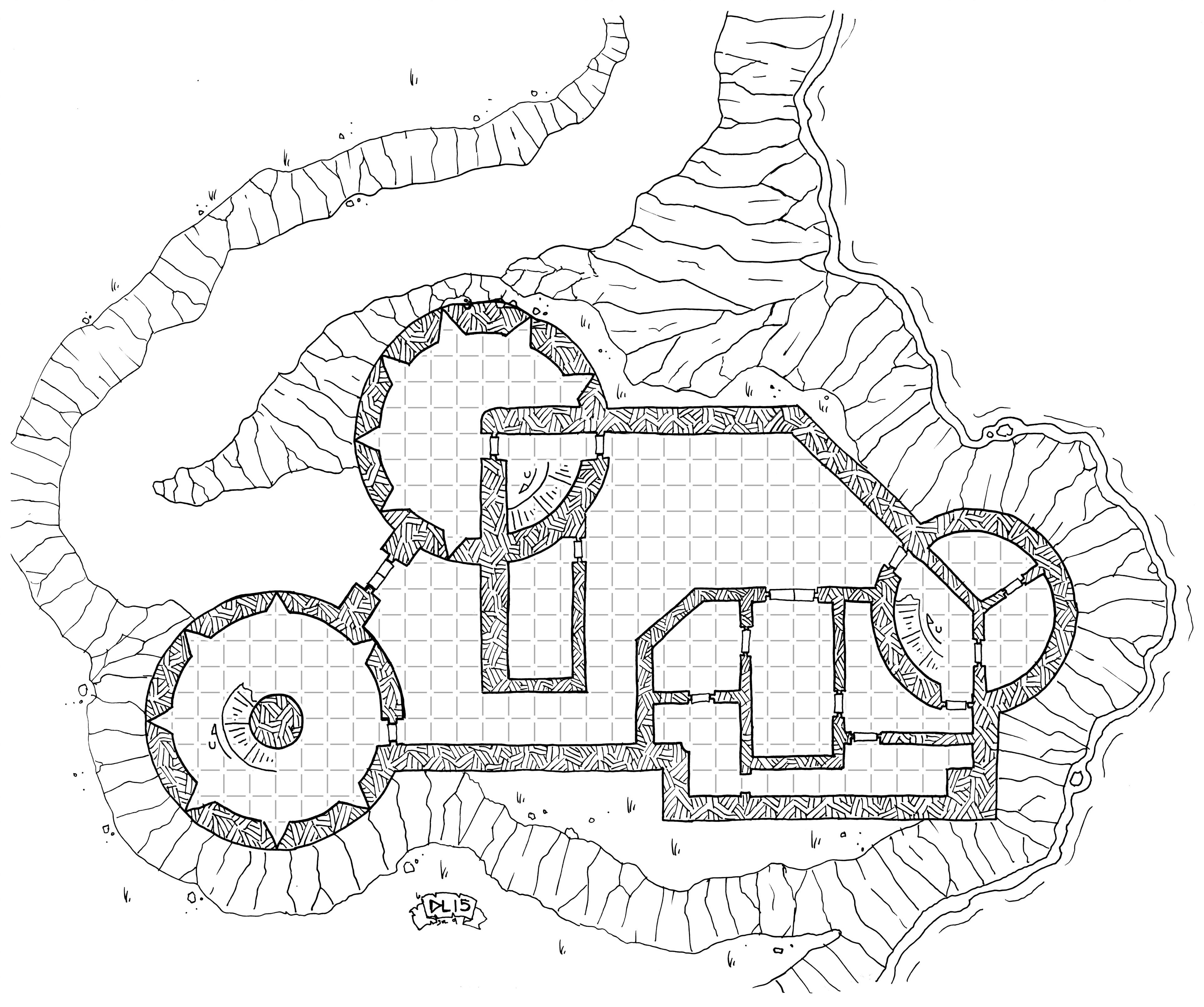Tuesday Map Pregello Fortress