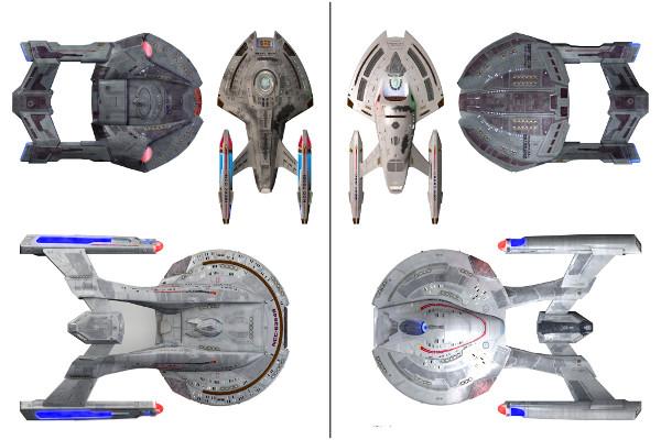 Várias Naves menores da Federação