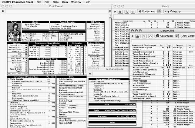 Programa Gurps Character Sheet