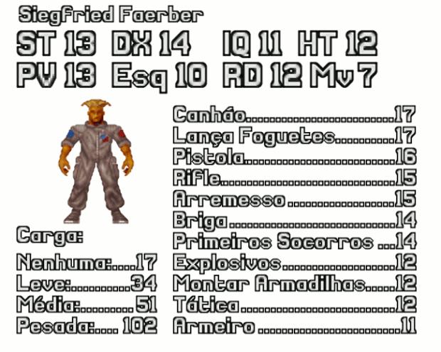 Ficha de Personagem de Soldado do X-COM