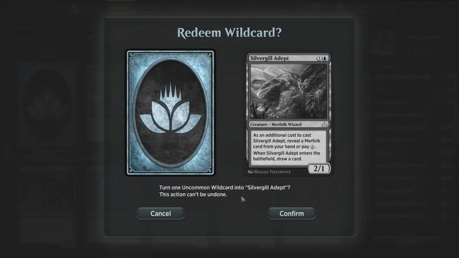 MTG Arena - Wildcards Redeem
