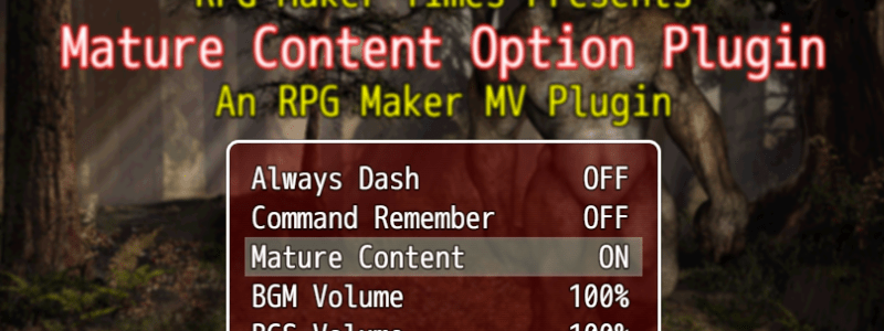 ֎ Mature Content Option Plugin