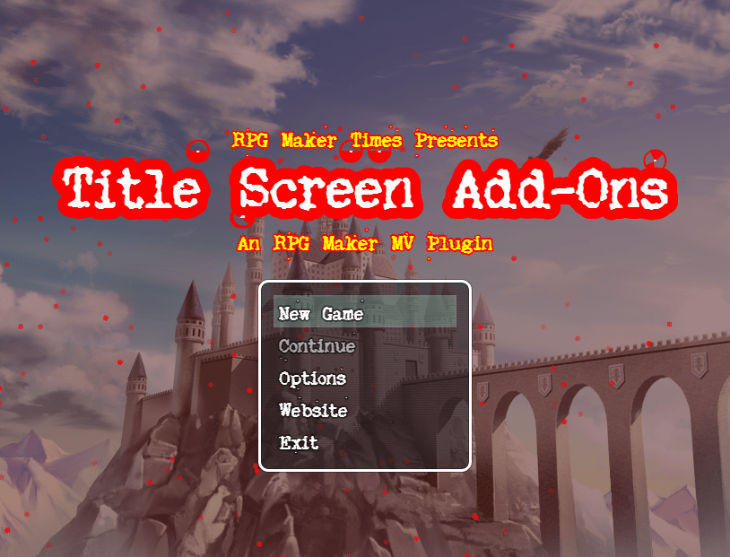 Available: Title Screen Add-On Plugin – RPG Maker MV Plugins