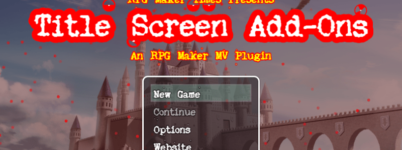 Available: Title Screen Add-On Plugin