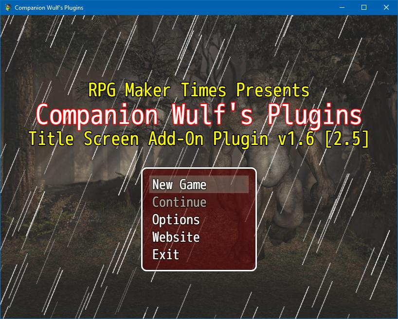 ֎ Title Screen Add-On Plugin | RPG Maker MV Plugins