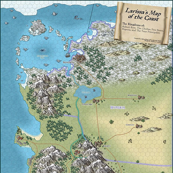 Larissa's Map of the Coast by Royal Wood Maps