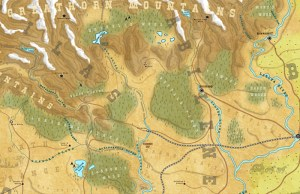 Wild West map by Dungeon Master Gaz