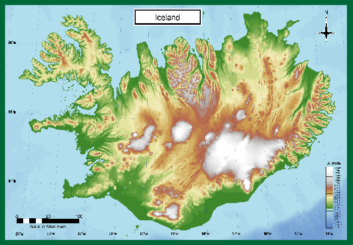 Iceland Topographical